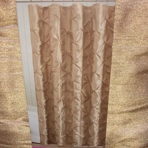 Cannon shower curtain chateau mocha pintucked gold